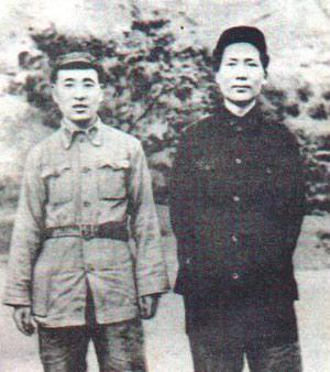 年轻时的林彪和毛泽东的合影