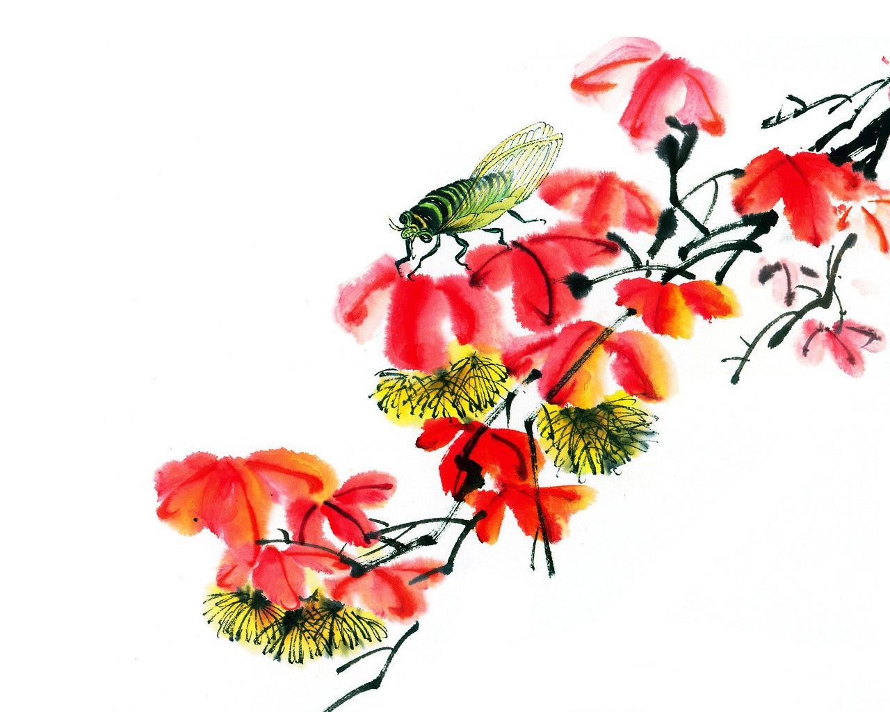 中国 水墨 画 壁纸 中国 画 王 雪涛 中国 画