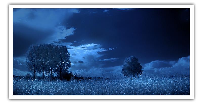 一抹冰蓝色,几度深寒境图片
