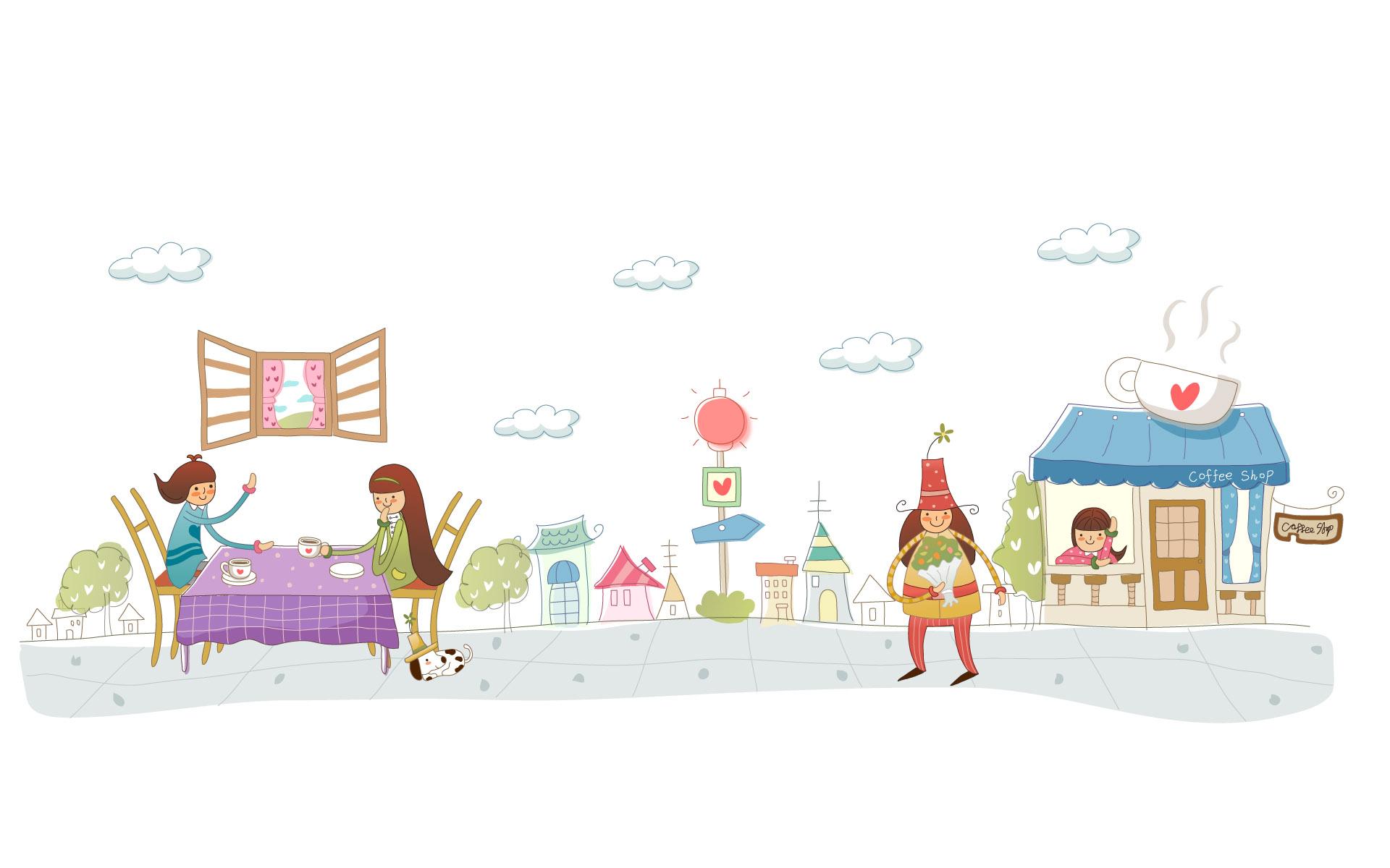 儿童简笔画 祝节日快乐