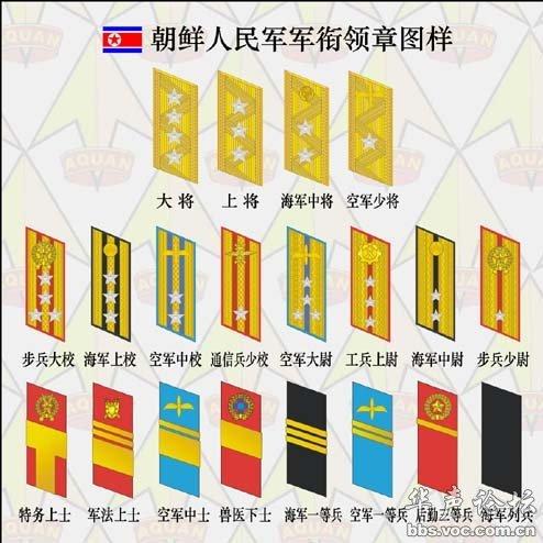 朝鲜军衔解析图片