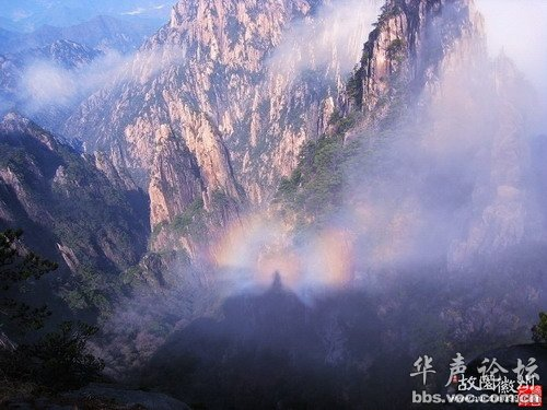 奇景,黄山,双佛光。【图片转载】 - kkk20088 - kkk20088的博客