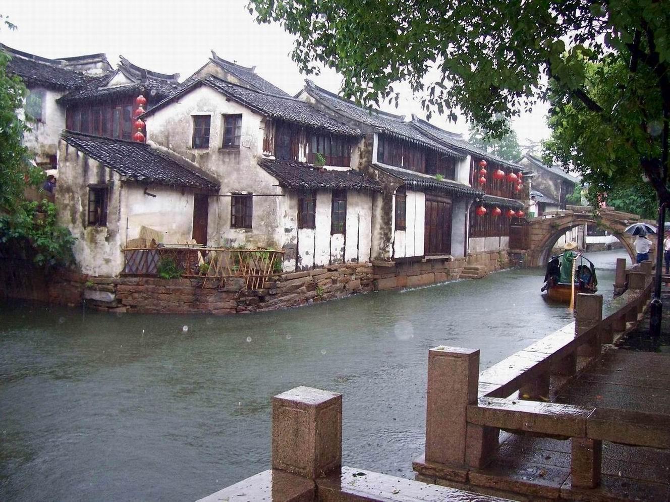 雨中水乡:江南周庄之美 - 成功彼岸 - leninchen的博客