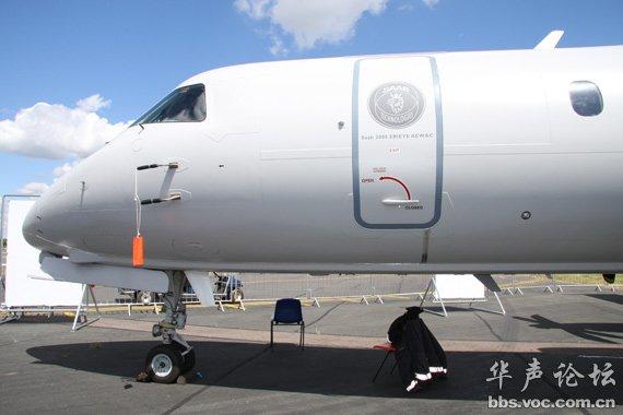 瑞典萨博2000预警机亮相范堡罗航展 高清图片
