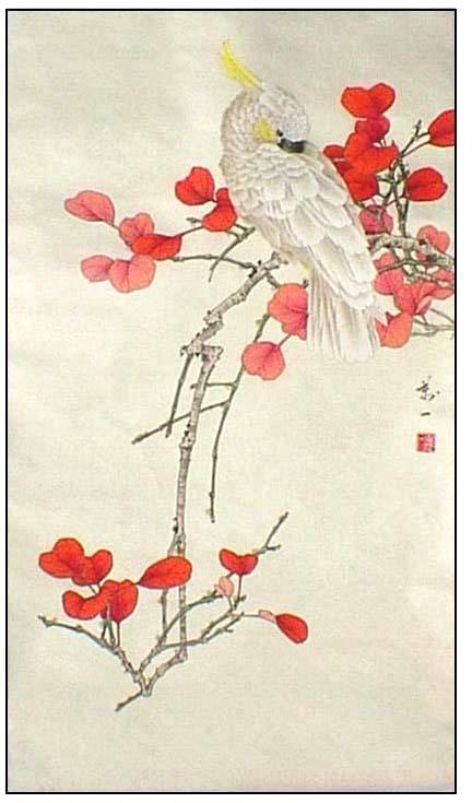 万一 工笔花鸟作品欣赏