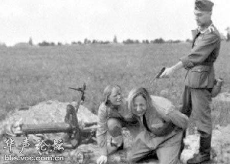 妇女也被纳粹杀害.-惨不忍睹 曝光德军当年对妇女的残忍暴行