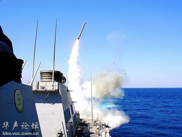 反舰导弹发射的瞬间