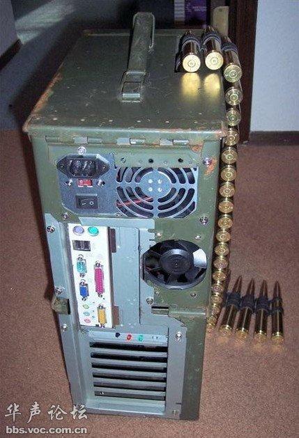 牛!某军事狂人的电脑机箱!!!