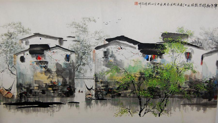 南京山水画家白英卓画作欣赏