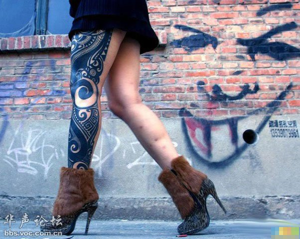 纹身站街女_街拍霸气纹身女,果然够猛! - 千奇百怪 - 华声论坛