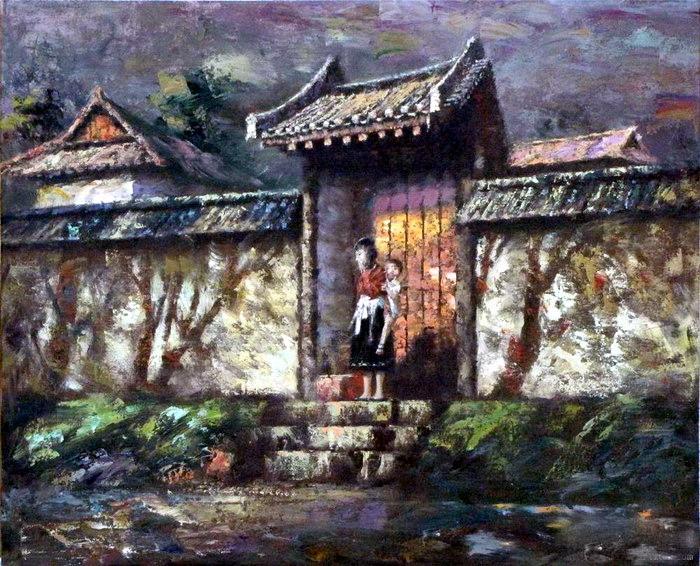 邻国朝鲜油画家绘画作品欣赏