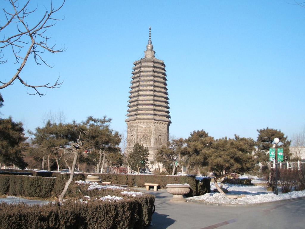 中国古代塔的集景