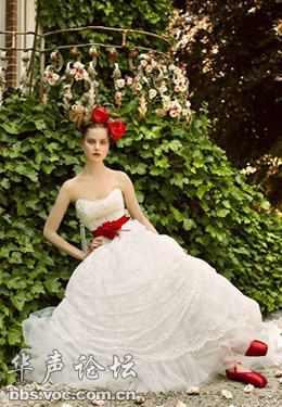适合盘发新娘的几款超美丽婚纱礼服图片
