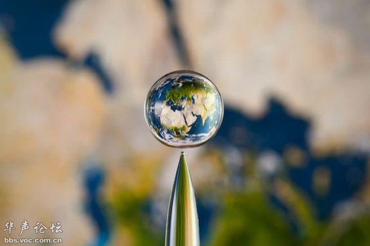 一滴水里的世界图片