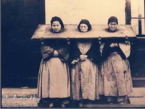 清即将被斩首的女犯图片