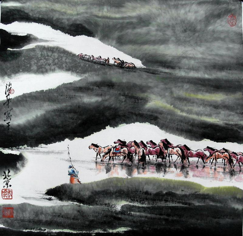 当代著名国画家姚治华绘画作品欣赏图片