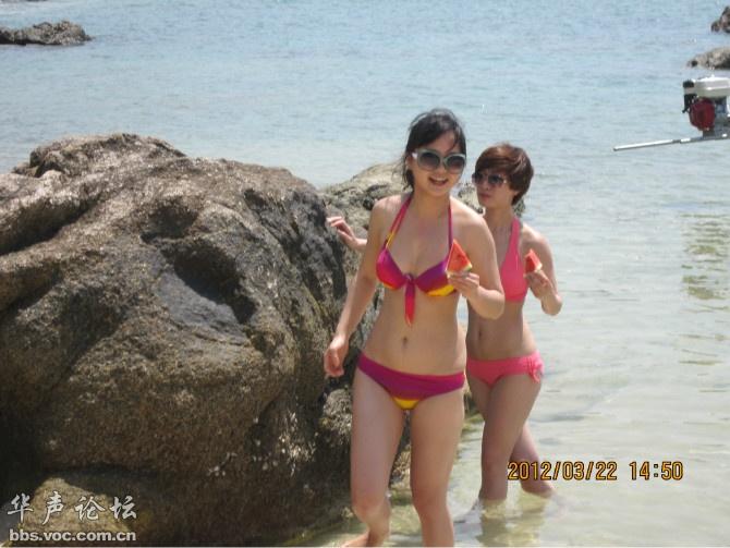 中国美女在普吉岛图片