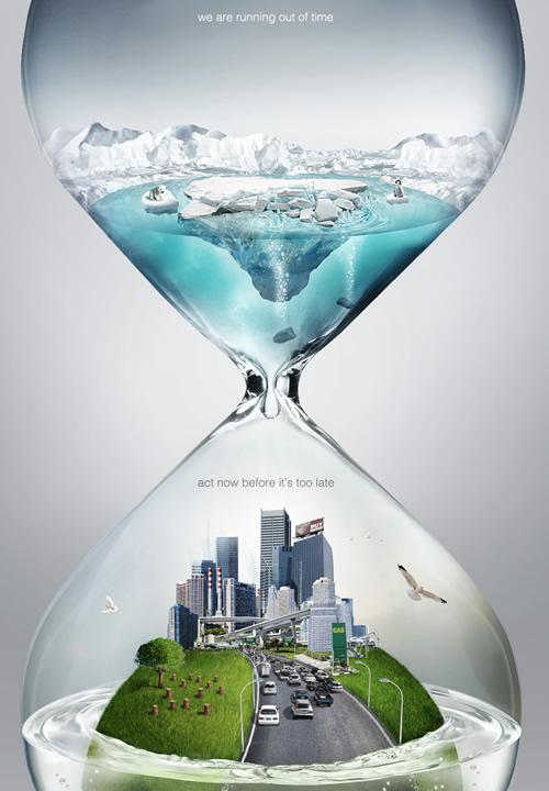 地球环保公益海报设计欣赏