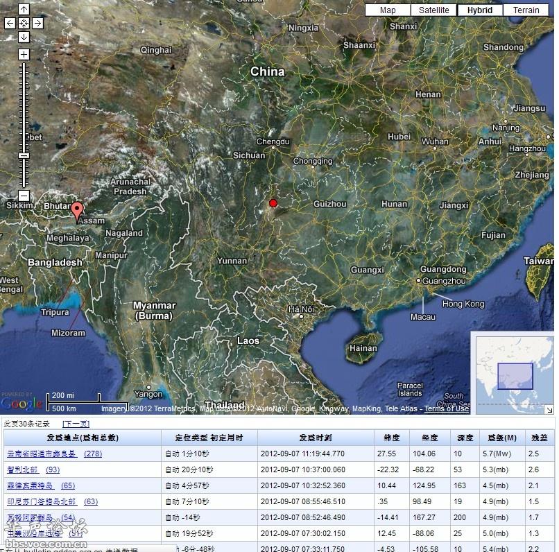云南昭通地震了,5.7级,准确消息图片