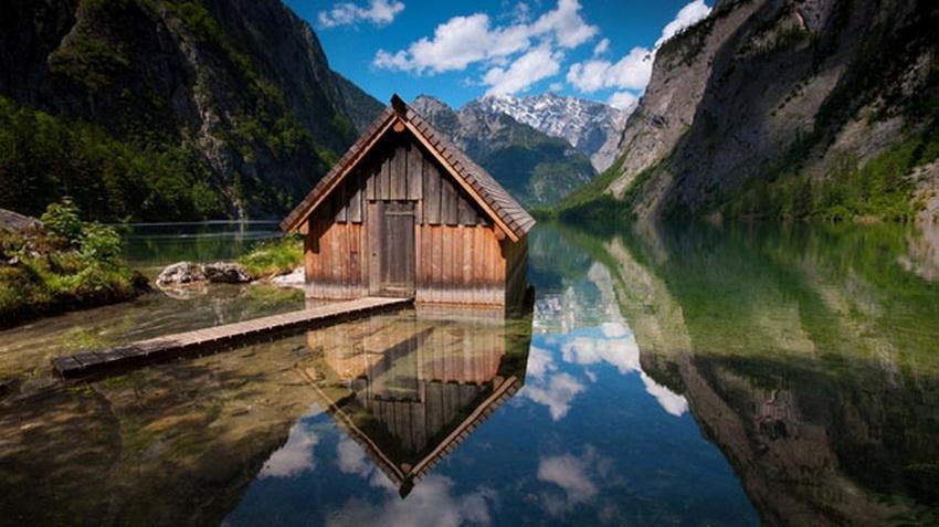 ,若能有一所小木屋,恐怕是世界上最美好的事情之一.-树林里的小