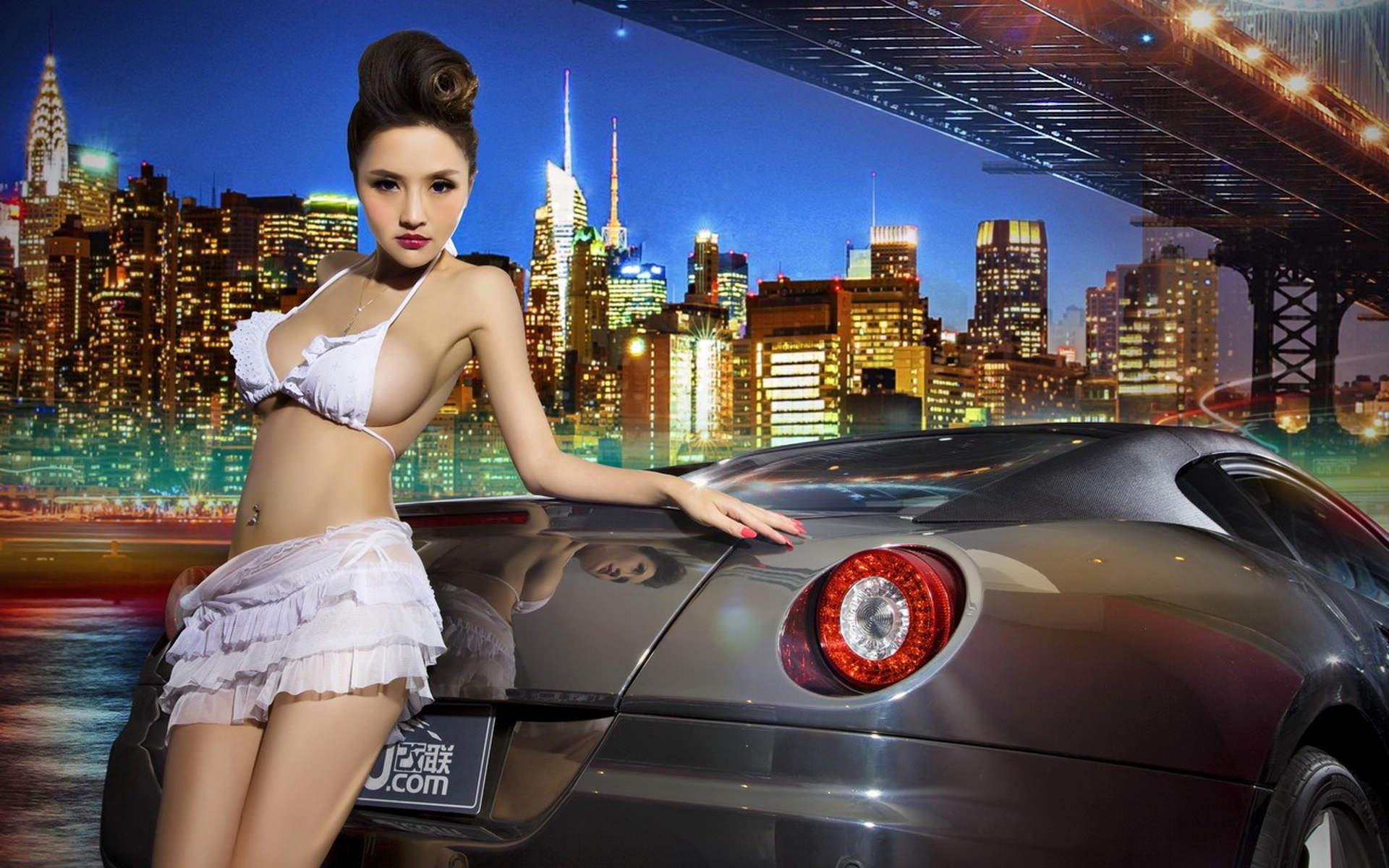 法拉利改装车模宽屏壁纸高清图片