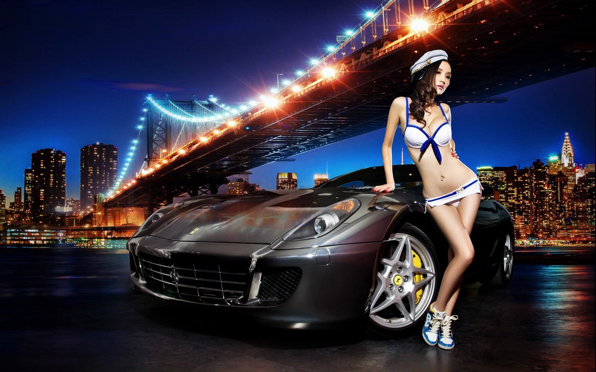 法拉利 改装 车模宽屏壁纸 15p高清图片