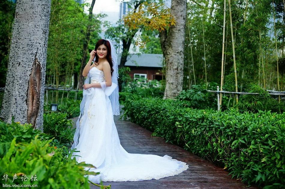 长尾婚纱 美女贴图