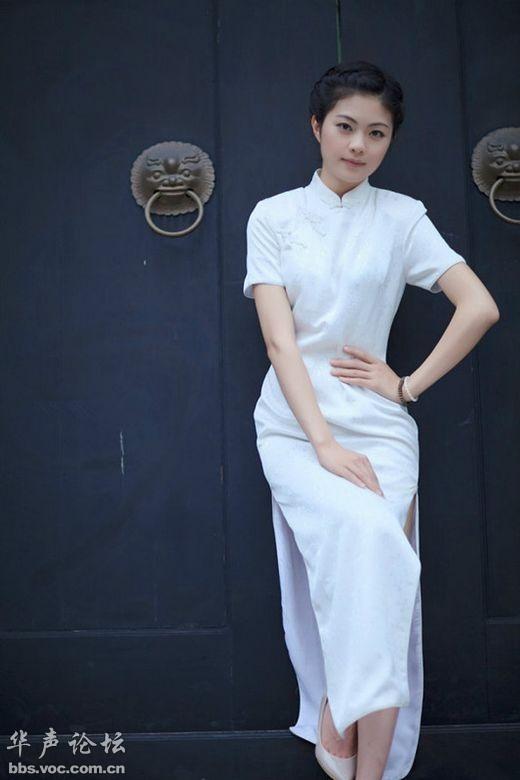 纯白旗袍 绝色清纯女子 美女贴图