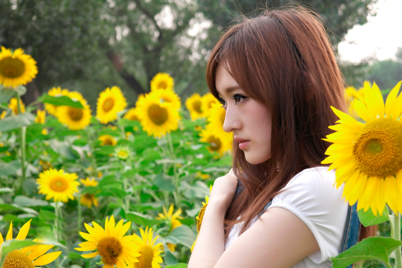 【人像摄影】笑容灿烂葵花园  -  水墨凝烟  -  花仙子的博客.