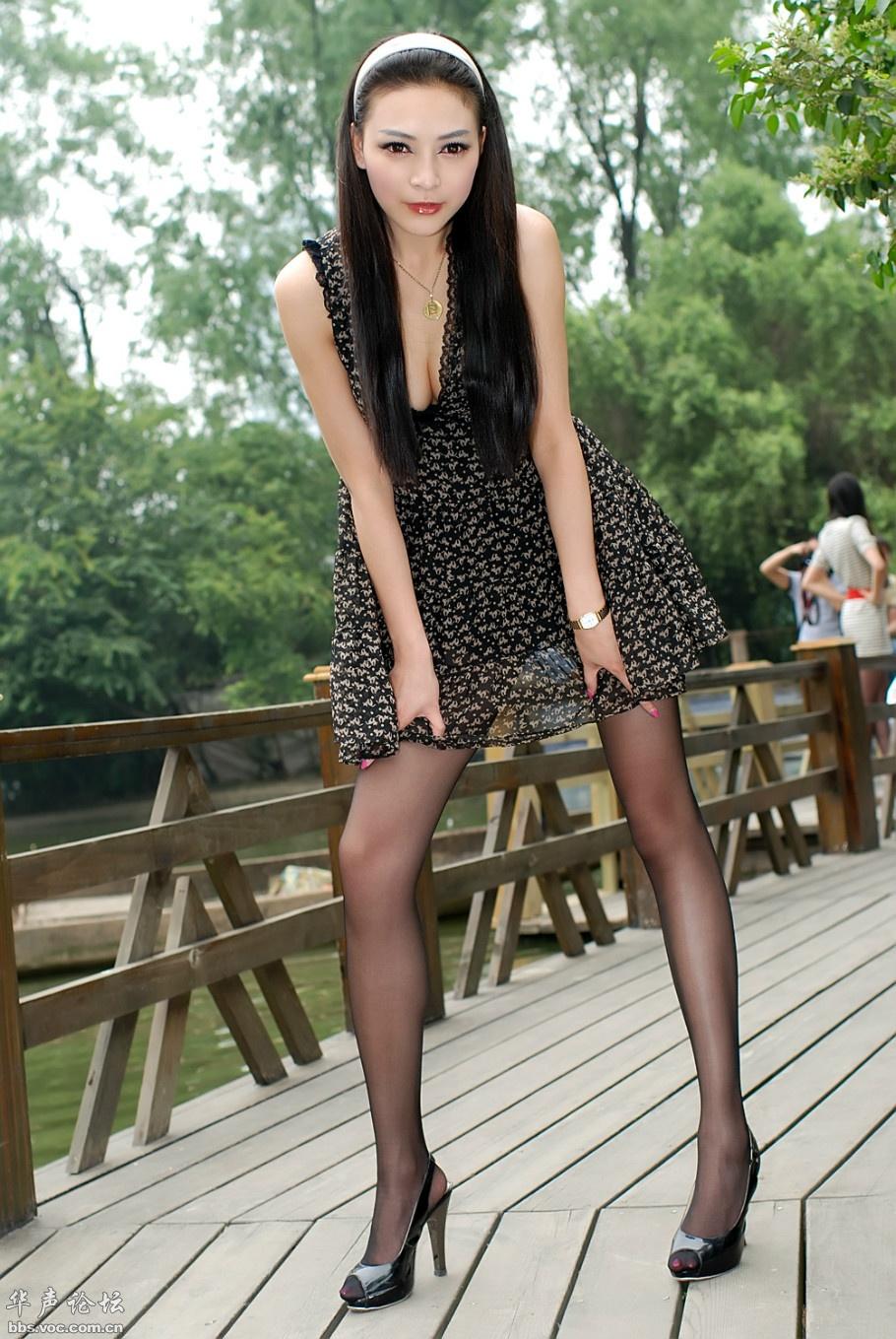 迷人的长腿黑丝熟妇 - 美女贴图 - 华声论坛