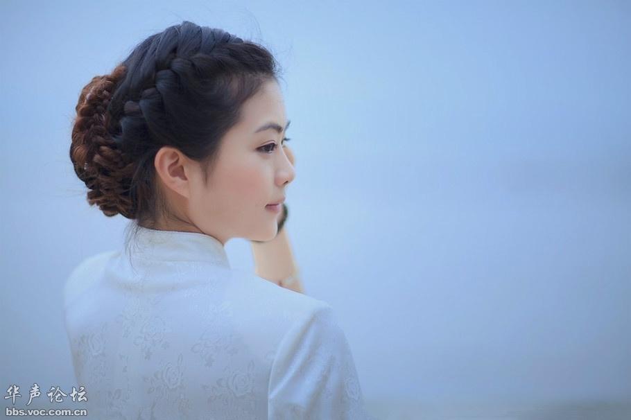 洁白的旗袍 美女贴图