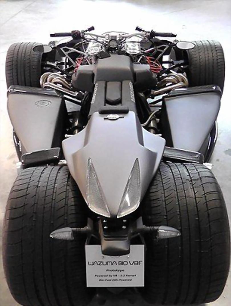 世界上最牛超级摩托 法拉利引擎.时速240高清图片