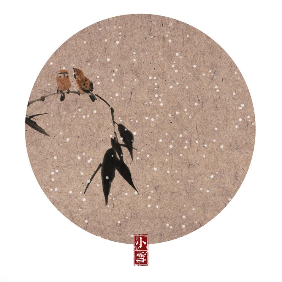 24节气的画-帝浣水墨国画版二十四节气图