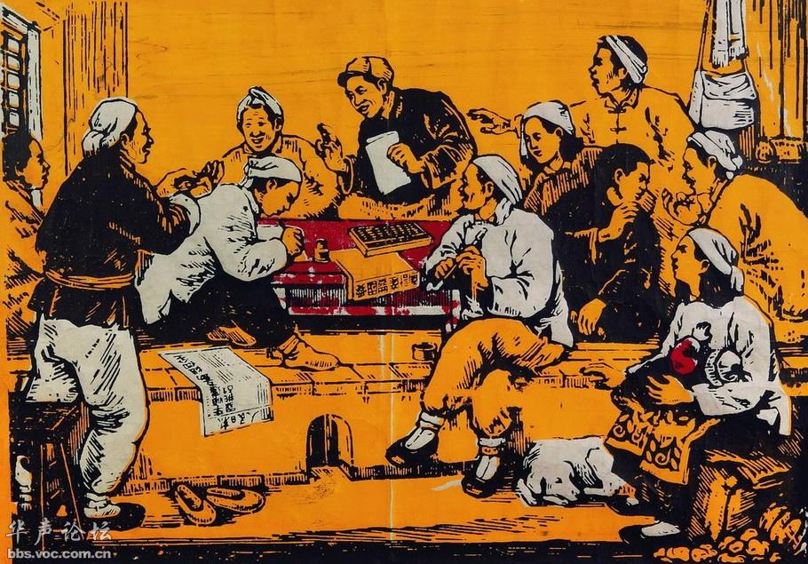70年代怀旧年画-从老明信片和年画看 北京中国美术馆收藏的怀旧老年画图片