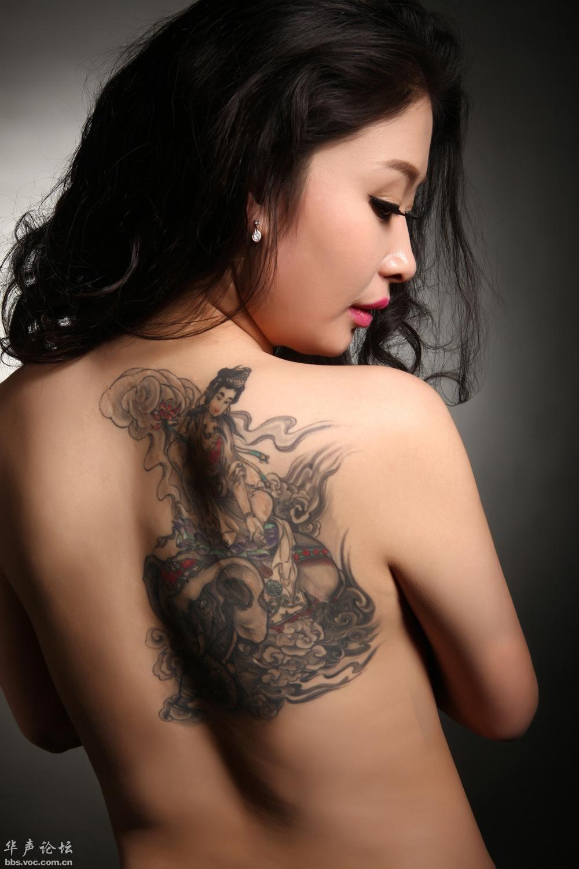 普贤菩萨 纹身艺术高清图片