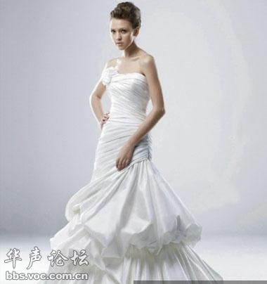 骨感的新娘适合多层次婚纱-根据体型选婚纱 视觉 减重 做最美新娘