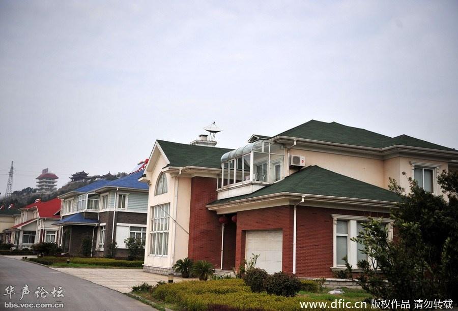华西村农民住房 变身 欧式别墅图片