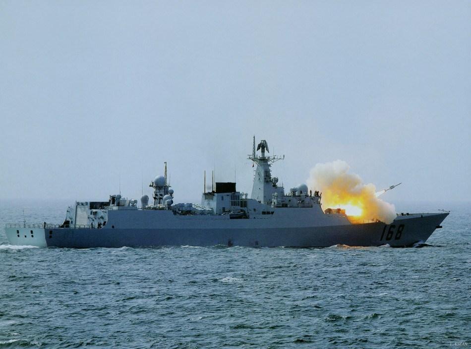 导弹驱逐舰哈尔滨舰_[图文] === 中国海军战舰发展 --- 从小炮艇到航母 === [推荐](页 1 ...