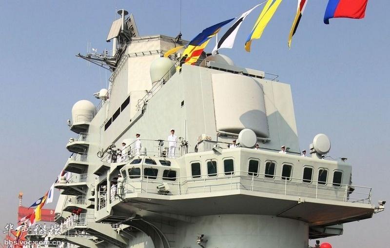 中国航母驶向大洋 纪念中国人民解放军建军87周年