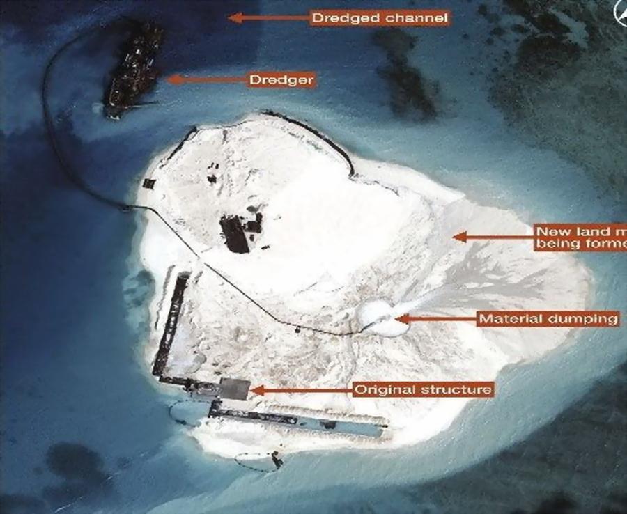 [图文] === 菲律宾侦察报道我赤瓜礁填海工程进
