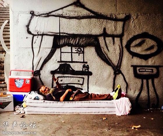 为无家可归的人画梦想