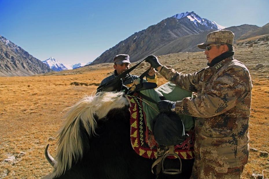 死亡之谷 的解放军边防战士