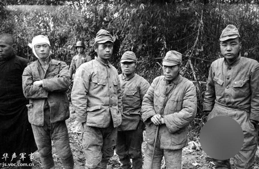 抗日战争中国战场上被俘的日军