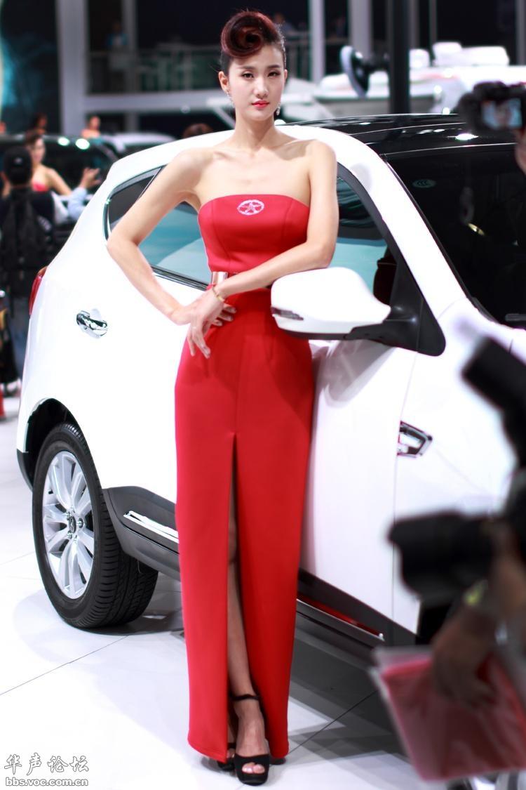 2014广州车展模特图片