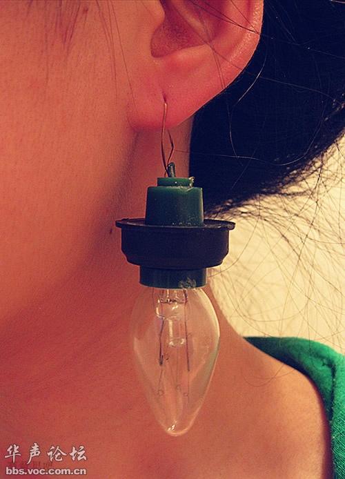男票送的钻石耳环,我用它来照亮我的一生~-比穷大赛 谁敢比我穷