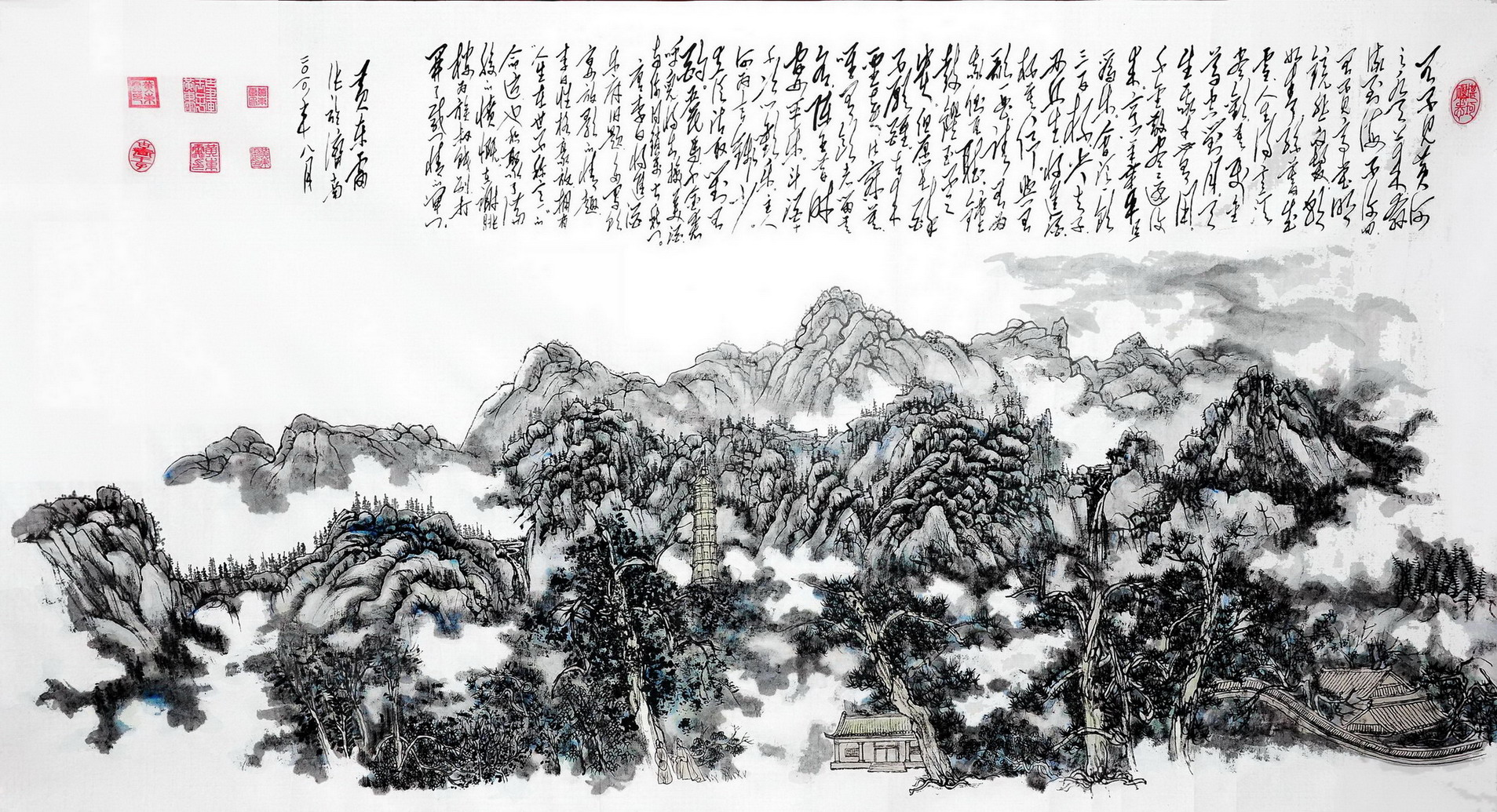 黄东雷山水画作品赏析