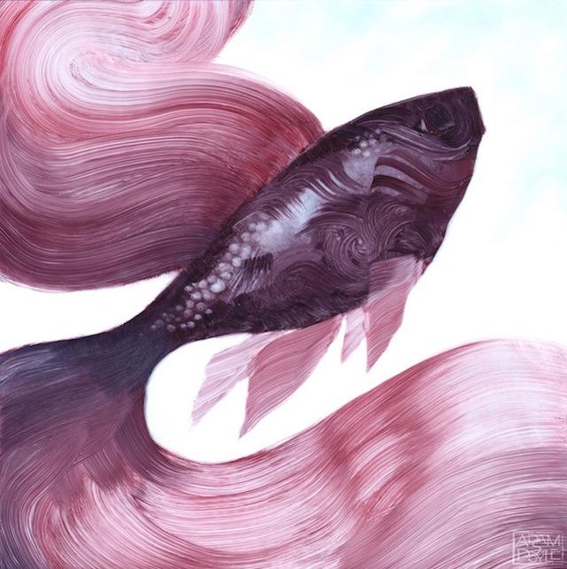 细腻的肌理和色彩变的动物绘画作品