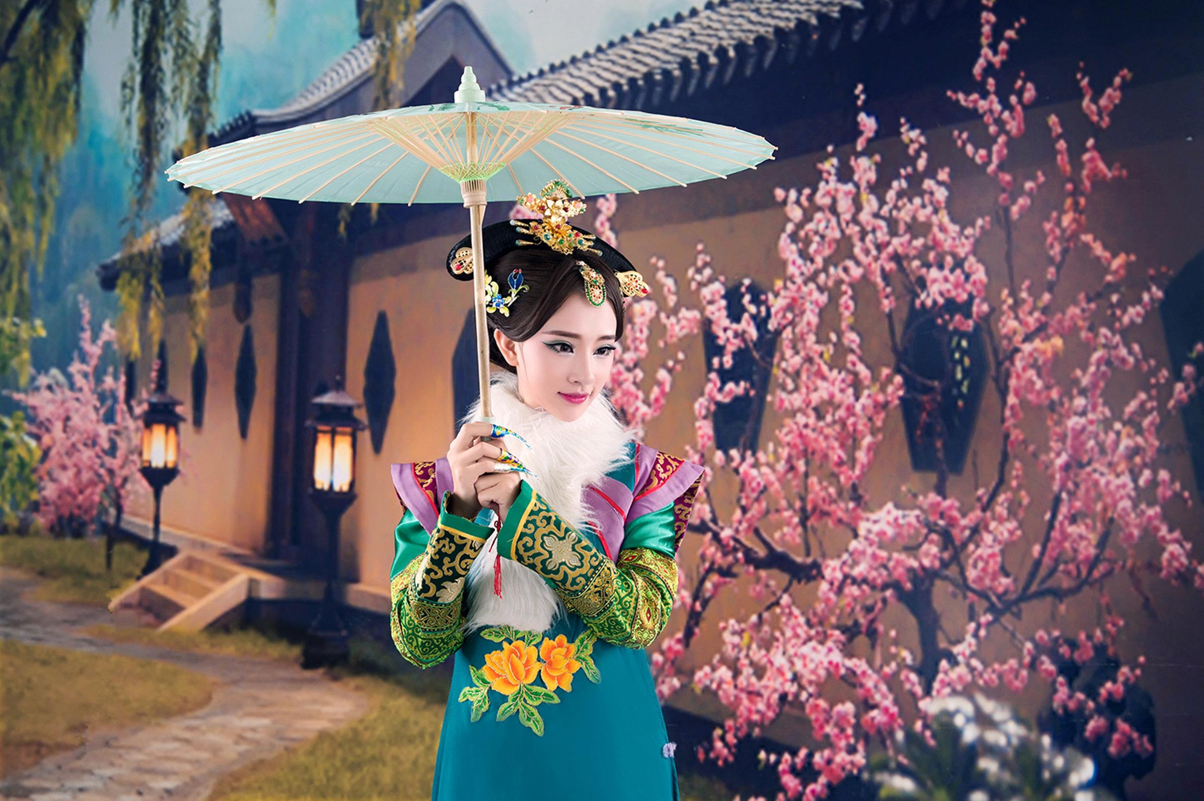 【人像摄影】古装美女 大玉儿  - 花仙子 - heisemeigui的的博客