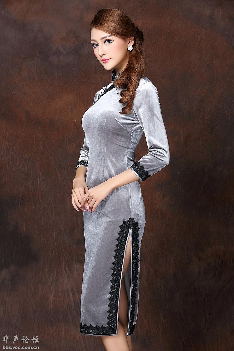 漂亮衣模  伊人旗袍 - 花開有聲 - 花開有聲