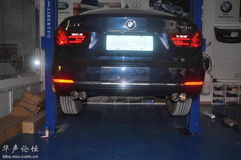 帅爆了,宝马3系GT改装排气管中尾段4出高清图片